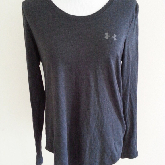f60625bd4 Under Armour Tops | Charge Charcoal Shirt Women L Loose | Poshmark